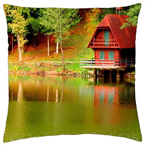 Lake cottage - Throw Pillow Cover Case (Lake Cottage)