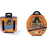 Gorilla 3044721 Patch & Seal Tape | 3m, Black & GOR3049011 GTB32 Gaffer & Builders Tapes, Black, 48mm x 32m