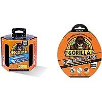 Gorilla 3044721 Patch & Seal Tape   3m, Black & GOR3049011 GTB32 Gaffer & Builders Tapes, Black, 48mm x 32m