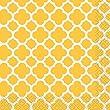 16 Petites serviettes en papier Grafik jaune 25 cm
