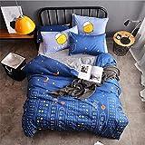 SHJIA Textiles para el hogar Funda nórdica Funda de Almohada Ropa de Cama Sábanas Juego de Cama King Queen Twin Deep Blue 150x200cm