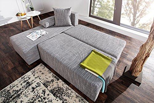 CUBUS Ecksofa mit Schlaffunktion und Bettkasten in L-Form