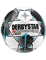 Derbystar - Pallone da Calcio per Adulti Bundesliga Brillant Replica, Bianco, Nero, Petrolio, 5