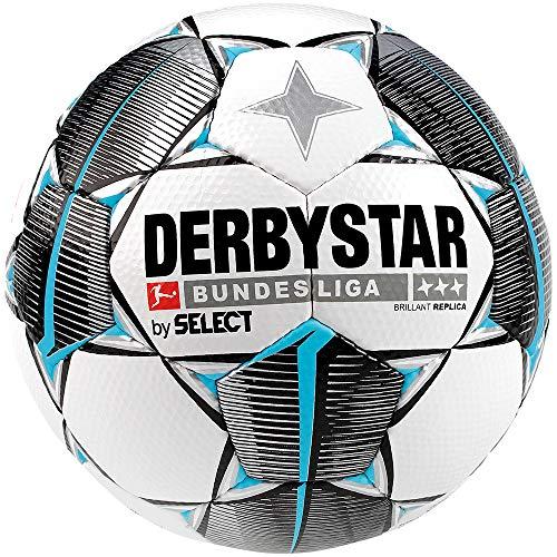 Derbystar Erwachsene Bundesliga Brillant Replica Fußball, Weiss schwarz Petrol, 5 (Fußball Ball)