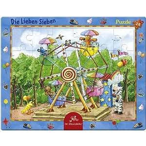 Coppenrath 21381 - Puzzle Die Lieben Sieben - Auf dem Jahrmarkt, 24 teilig