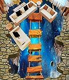 DDBBhome Welt Holzbrücke Badezimmer 3D Tapete Boden Foto Boden Tapete 3D Stereoskopischen Home Dekoration, 250X170Cm