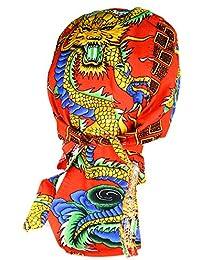 Bandana rouge tigre dragon kamikaze samourai japon japonais serre tete homme femme biker