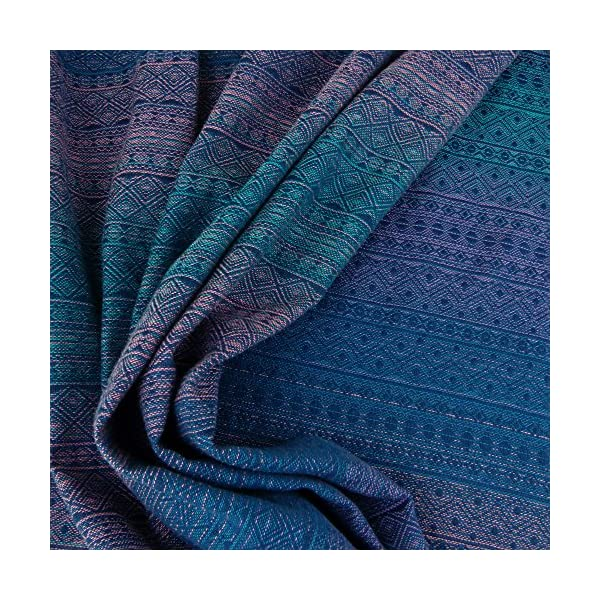 Didymos Woven Baby Wrap, Prima Sole Occidente, Size 6, 470 cm, Blue Didymos Various carrying positions, in front, sideways an on the back Special, diagonally stretchable cloth to give optimal support Holds your baby in the anatomically correct posture 5