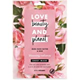 Love Beauty and Planet Sheet Mask Blooming Radiance Murumuru Butter & Rose, 1pc
