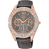 Watch For Women By Seiko leather Band, Quartz - SKY684P