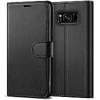 Vakoo Coque Samsung S8, Premium Etui Portefeuille de Protection et Rabat Housse en Cuir pour Samsung Galaxy S8 5,8 Pouces (Noir)