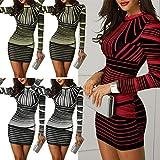 Photo de ASILAX& Fall Women Sexy Striped Pattern Elegant Temperament Quality O Neck Dresses par ASILAX&