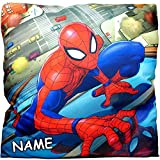 """Kissen / Schmusekissen / Sitzkissen - """" ultimate Spider-Man """" - inkl. Name - Kuschelkissen - Mikrofaser - 40 cm * 40 cm - groß - beidseitig bedruckt - sehr weich - für Jungen - Plüschkissen - Reisekissen / Autokissen - Kinder / Amazing Spiderman Aktion Figur Spinne - Superheld - Peter Parker - Spider Man - Stoffkissen / Kinderkissen - Zierkissen - Kinderzierkissen - Kinderkuschelkissen"""