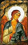 Handgefertigt Griechisch Christian-orthodoxen Holz Icon von Erzengel Michael auf Leinwand/M62