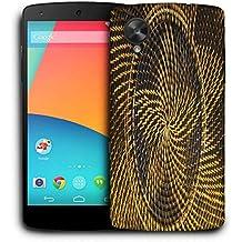 Snoogg Estrella Amarilla Funda Carcasa de diseño para LG Nexus 5