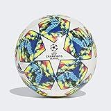Adidas Jongens FINALE 19 CPT toernooiballen voor voetbal, top: wit/helder cyaan/solar geel/shock pink broek: collegiate royal