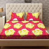 Bombay Dyeing Double Bedsheet with 2 Pillow Covers, Red