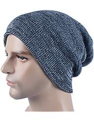 Qiaoba- Hommes Chapeau de chandail d'automne et d'hiver chapeau de tricot en plein air chaude