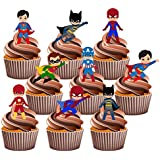 PARTY PACK - 36 adornos de superhéroes comestibles para tartas