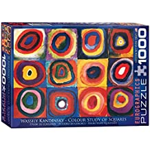 Eurographics Color Study of Squares by Wassily Kandinsky Puzzle (1000 Pieces) by Eurographics