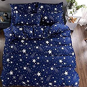 P PRIDHI Cotton Single Bed Bedsheet with 1 Pillow Cover