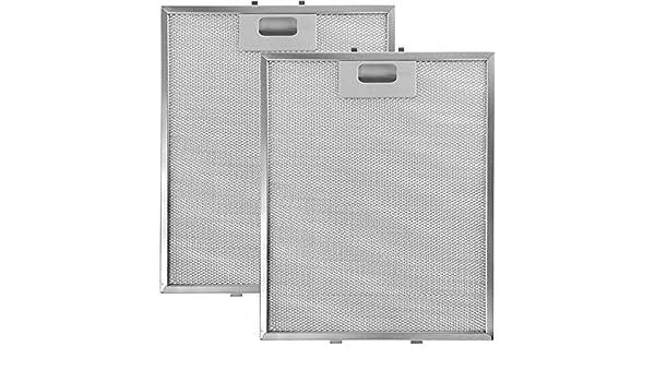 Fitment List C 305/x 265/mm, lot de 2 Spares2go filtre /à graisse en maille en aluminium pour Whirlpool hotte ventilateur da/ération