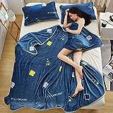 Max Home Coral Fleece Decken Tagesdecke Queen Size - Luxus Large Bed Decken Super Soft Fluffy Warm Mikrofaser Solide Blanket (Farbe : #-001, größe : 200cmX220cm)