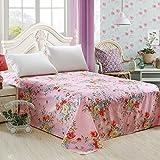 Puro algodón tela cruzada lino/Pedazo de hojas de doble cama de algodón pesado del sola del-G 160x230cm(63x91inch)