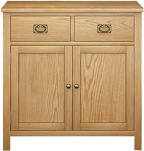 Festnight Sideboard Bedroom Side Cabinet 10 Drawers /& 2 Cupboards Grey 113x30x79 cm Wood