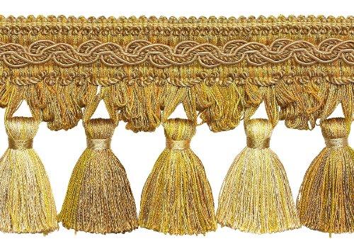 Zwei Ton Gold 10,2cm Barock Quaste Fransen Stil # tfb1Farbe: Gold Medley-8633(Verkauft von der Hof) - Zwei-ton-quaste