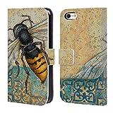 Head Case Designs Offizielle Rachel Paxton Gelber Weste Insekten Brieftasche Handyhülle aus Leder für Apple iPhone 5c