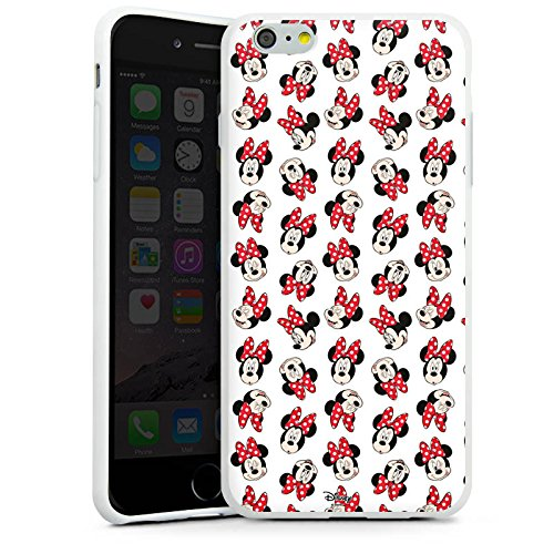 Apple iPhone 7 Plus Silikon Hülle Case Schutzhülle Disney Minnie Mouse Fanartikel Geschenk Silikon Case weiß