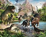 Walltastic WT4012 Land der Dinosaurier, Tapete, Wandbild, bunt 52.5 x 7 x 18.5 cm