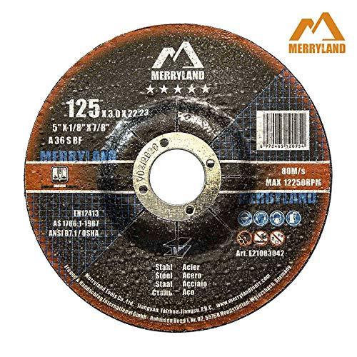 Merryland 125 X 3,0 Experten-line Trennscheibe für Stahl Metall 25 Stück
