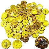 BESTZY 100 Piezas Monedas Moneda Oro Angular plástico Juguete Falsas