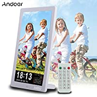 Andoer 12 Inch LED HD Digital Photo Picture Frame 1280 x 800 Desktop Frame Support MP3/MP4/E-book/Calender/Alarm Clock Function with Remote Control Christmas Gift