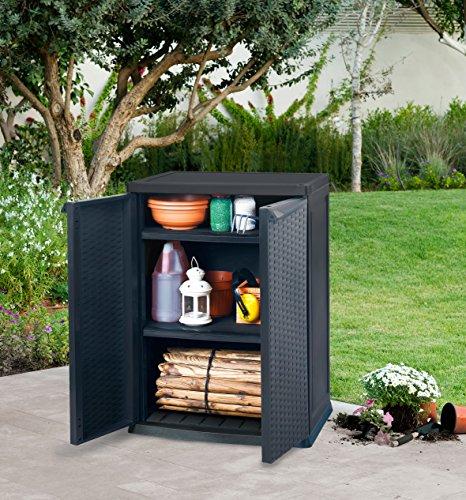 keter universalschrank rattan style mini shed braun top. Black Bedroom Furniture Sets. Home Design Ideas