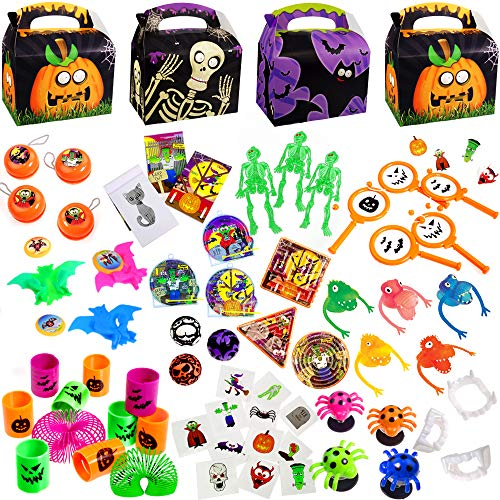German Trendseller® 18er Set Halloween inkl. Geschenke Boxen ┃ 12 Kleine Geschenke ┃ 6 x Überraschungs - Party - Boxen + 12 x Mitgebsel
