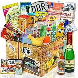 DDR 24tlg Geschenkbox mit Ost Produkten | DDR Geschenkset
