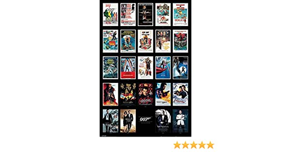 Poster James Bond 007 Collage des affiches de cin/éma 61cm x 91,5cm un poster Bora Bora en cadeau!