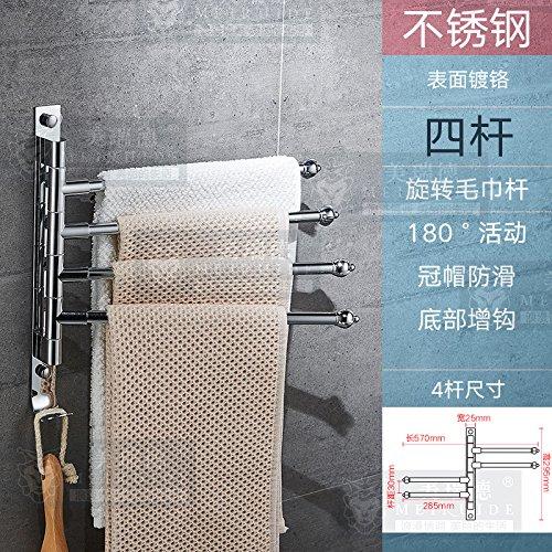 LHbox Tap Edelstahl schwenkbar Handtuchhalter Badezimmer Handtuchhalter Badezimmer Handtuchhalter Handtuchhalter, Edelstahl Infusionsständer (Punch) - Edelstahl-infusionsständer