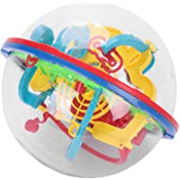 Mini Boule de Labyrinthe 3D 100 Difficultés en Plastique Puzzle Magique Jeux de Réflexe Jeu d'action Jeu Éducatif…