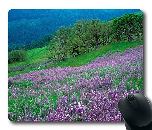 Gaming Mouse Pad Customized Natural Eco Rubber Oblong Field Of Purple Flowers 2 MousePad Computer Desk Stationery Accessories Mouse Pads For Gift