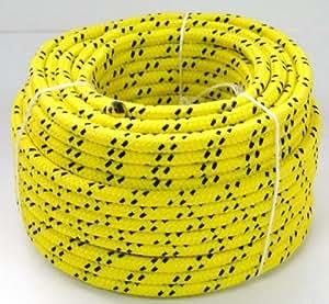 Corde d'amarrage 25m cordage n°8 jaune Accastillage bateau grappin