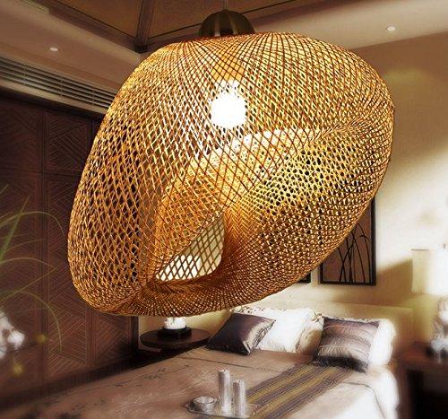 TYDXSD Garten wohnzimmer schlafzimmer Lampe einfach Teehaus restaurant Studie natürlichen Bambus Kronleuchter Lampe Lampen hand Balkon 60*45cm