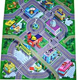 Silli Me Downtown Felt Play Mat with Train Track and Roads