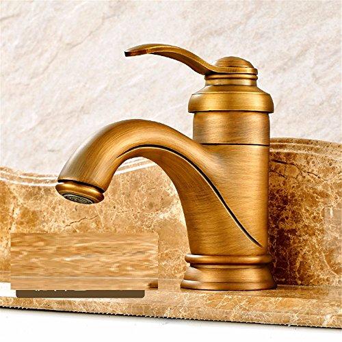 Qwer Continental-Wide Kupfer antik kaltes Wasser Malen American Mixer waschen das Gesicht der Nostalgie für die Tabelle unten Badezimmer WC Waschbecken Wasserhahn Wasserhahn Wasserhahn (Unten Malen)