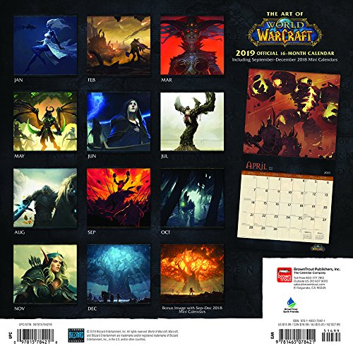 Calendrier The Art of World of Warcraft 2019