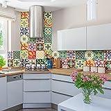 PS00049 Pared pegatinas de PVC para los azulejos para baño y cocina Stickers design - Valencia - 24 azulejos 20x20 cm