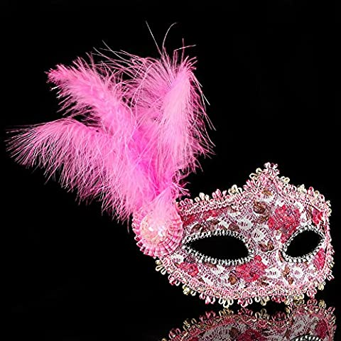 Décoration mascarade masque/princess party masque adulte-C